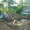 Výkop pro odtok kanalizace