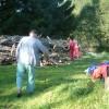 Zpracování dřeva ze staré chalupy